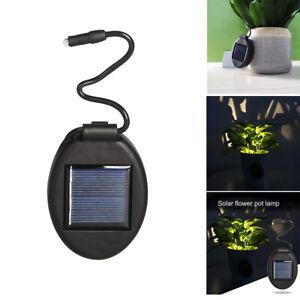 Solar Power Light Plant Flower Pot Lamp Waterproof Garden Landscape Decoration