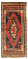 "Hand-knotted Turkish Carpet 4'4"" x 9'7"" Konya Anatolian Traditional Wool Rug"