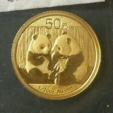 2009 China 50 Yuan 1/10oz Gold Panda in Mint Plastic