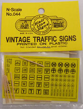Blair Line N Scale Vintage Traffic Caution Signs (Plastic) # 44