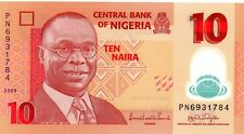 NIGERIA 10 Naira 2009 P39a UNC Polymer Banknote