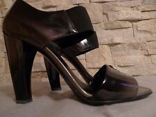 PRADA WOMEN'S PATENT-LEATHER OPEN TOE SHOES ITALY 37 / 7