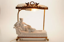 "19th c. French Boudoir Table lamp ""Reclining Paolna Borghese"" after Canova"