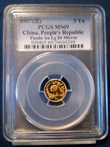1997 PCGS China Gold Panda MS69, 5 Yuan  | Au Lg Dt Mirror    LOW MINTAGE !