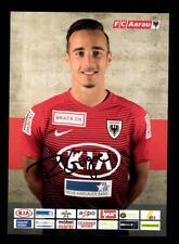 Raoul Giger Autogrammkarte FC Aarau 2017-18 Original Signiert+A 172722