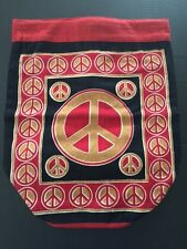 Heavy Cotton Back Pack Peace Symbol