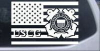 US American Flag Coast Guard Car or Truck Window Laptop Decal Sticker