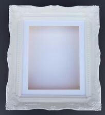 "3D 20x16"" White Shabby Chic Swept Picture Photo Memory Frame 1.75""/45mm Box"