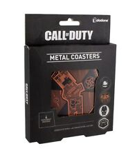 Call of Duty Video Game Set of 4 Different Metal Embossed Coasters NEW BOXED