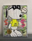 8x10 Black Light Kaws Snoopy Peanuts Wall Art Painting