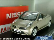 NISSAN MICRA MODEL CAR C+C 1:43 SIZE MET GOLD NOREV DEALER CONVERTIBLE MK3 K8