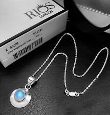 Gorgeous 925 Sterling Silver MOONSTONE Gemstone Necklace Pendant Gift Boxed