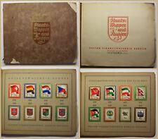 Sammelbilderalbum Staatswappen und Flaggen um 1930 Zigarettenbilder Bilder sf
