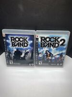Rock Band 1, 2 PlayStation 3 PS3 Complete in Box w/ Manual
