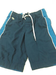 Abercrombie navy blue and white board shorts boys sz L