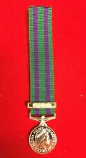 "General Service Medal Gsm 2008 Miniature  With Southern Asia Bar With 6"" Ribbon"