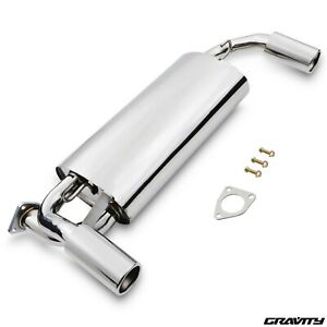 STAINLESS EXHAUST SYSTEM REAR SILENCER BACK BOX FOR ROVER MGTF MGF MG TF 1.6 1.8
