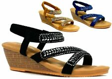 REVEAL MID WEDGE STRAPPY New Ladies Casual Sandal UK Size 3-8