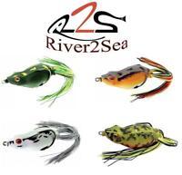 "River2Sea Spittin/"" WA 55 Topwater Frog-Dirty White-1//8 Oz-Bass Fishing-/""NEW/"" 1"