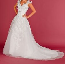 New White/Ivory Lace Bridal Gown Wedding Dress Size:4-6