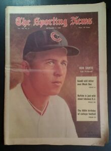 1969 Sporting News Chicago Cubs Santo OJ Holtzman Patriots Eagles NFL RARE Ad