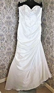 Lightweight cream wedding dress by JORA COLLECTION Size S & 10 NWT