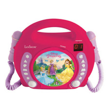 LEXIBOOK DISNEY PRINCESS CD PLAYER WITH MICROPHONES - PINK - RCDK100DP