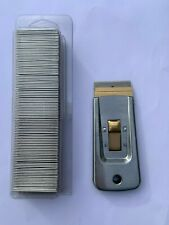 single edge safty razor blades box of 100 with free blade holder
