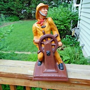 Vintage Large Mid-Century Modern Fisherman Table Nautical Deco or make lamp