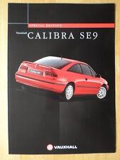 VAUXHALL CALIBRA SE9 Special Edition orig 1997 UK Market Sales Brochure