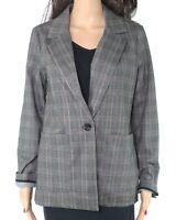 Sanctuary Womens Suit Seperates Gray Size XS Blazer One-Button Plaid $129 278