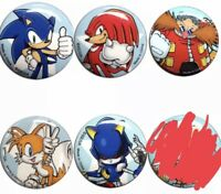 Sonic the Hedgehog 1.25 inch Button Pin LOT Sega Licensed Chao Tails Eggman New