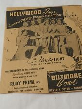 THE VARSITY EIGHT The highlight of the BILTMORE BOWL Dinner & Show $2 adver 1924