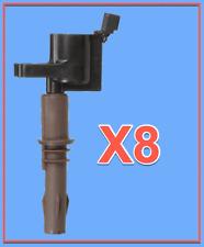 Set 8 Ignition Coisl For FORD LINCOLN MERCURY 4.6L 5.4L 6.8L V8 V10 Brown Boots
