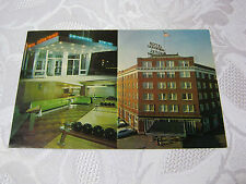 HOTEL LA FONTAINE HUNTINGTON INDIANA 1950'S RETRO MOD BOWLING  POSTCARD T*