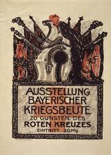 Bavarian Exhibition of the booty of the Red Cross - German WW1 Propaganda Poster