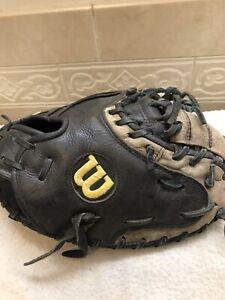 """Wilson A750 33"""" Men's Baseball Softball Catchers Mitt Right Hand Throw"""
