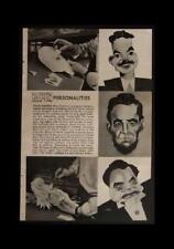 JACK EISNER Caricature Paper Sculpture Art 1949 pictorial article