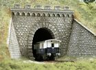 BUSCH HO scale ~ PREMIUM TUNNEL PORTAL WITH WINGS ~ plastic model #7022