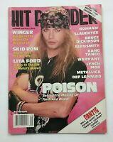 Hit Parader September 1990 Bret Michaels Poison - Motley Crue Centerfold