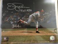 Jim Palmer signed / auto 8x10 Photo Orioles HOF inscription w/pic