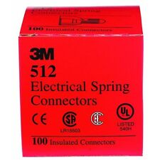 3 Pk 3M Red 20AWG Thru 8AWG Ranger Electrical Wire Connectors Nuts 100/Box 512
