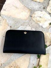 NWT, Kate Spade Magnolia Double Pocket Tote Leather Handbag/ wallet black