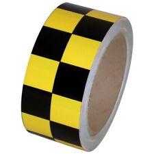 Checkerboard Vinyl Tape 2 X 36 Yard Roll Black Yellow