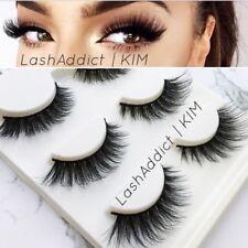 Mink Lashes Eyelashes 3D Flutter 3 pairs Makeup Siberian Vegas • New US SELLER