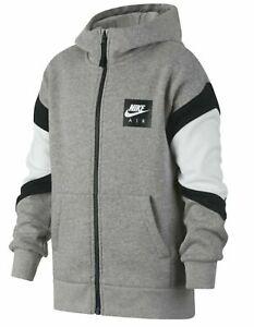 Nike Kinder Fleece Sweatjacke AIR Hoodie Hoody Jacke Grau Gr. L 146 - 156 NEU