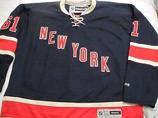 NY RANGERS RICK NASH JERSEY XL REEBOK NHL HOCKEY AUTHENTIC  HERITAGE MSG