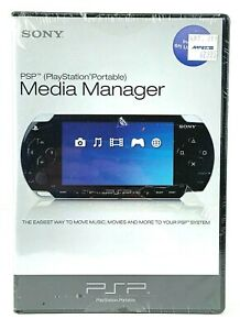 Sony PSP Media Manager Software PlayStation Portable New Sealed