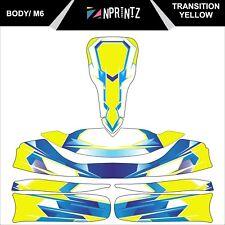M6 TRANSITION YELLOW TONYKART STYLE FULL KART STICKER KIT TO FIT M6 BODY
