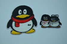 PENGUIN  Embroidered Sew Iron On Cloth Patch Badge SEWING APPLIQUE